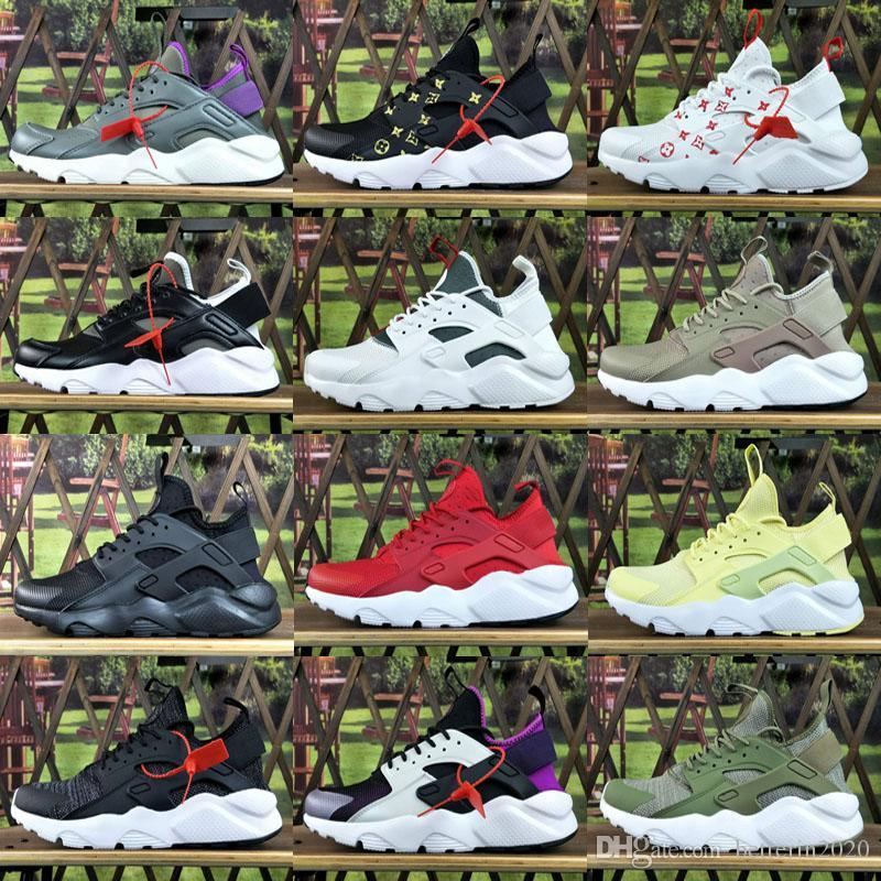 2018 New Nike Huarache Ultra-Laufschuhe 4 Männer und Frauen Sport Huaraches Turnschuhe Brustkrebs Huraches-Sport-Trainer-Schuh-Größe 36-45