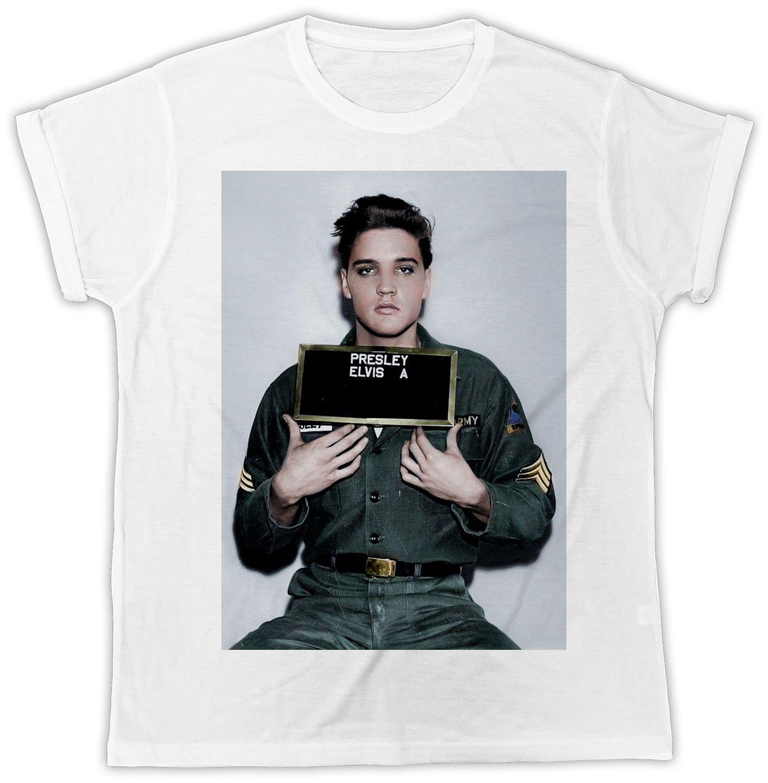 Elvis Presley Mugshot T-Shirt Mens Womens Unisex Top Tee Gift Present Celebrity