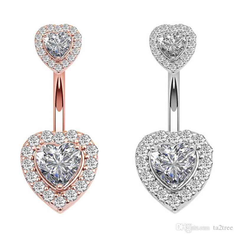 Wholesale Heart Style Belly Button Piercing Studs Titanium Steel Navel Jewellery For Salon And Piercing Supplies Body Art Tatto Body Art Uxbridge From Ta2tree 44 06 Dhgate Com