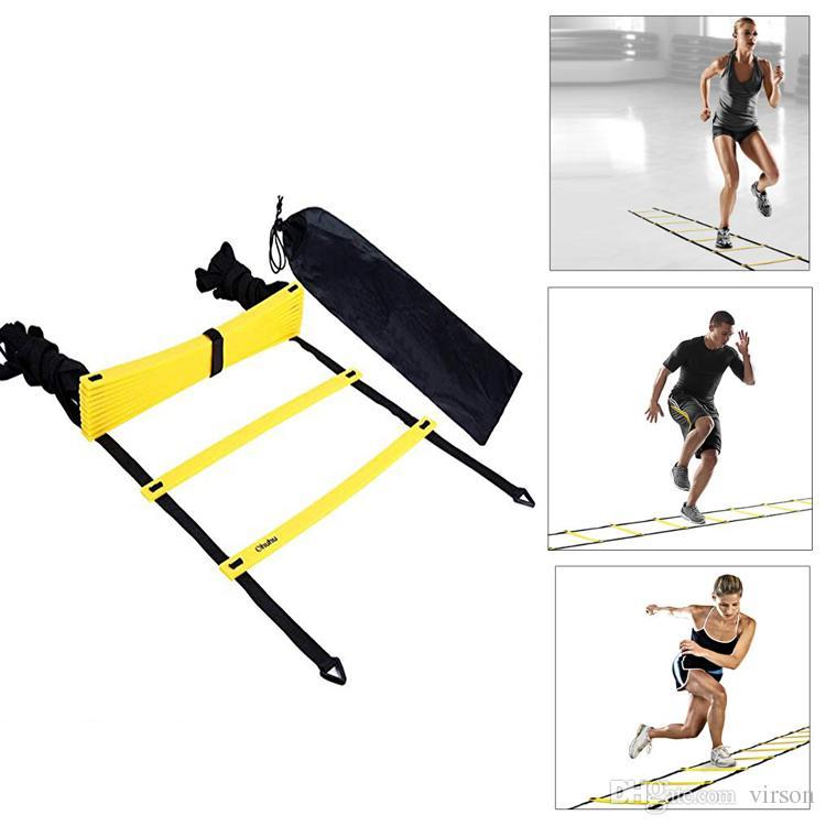 6M 12 رونج النايلون الأشرطة أجيليتي التدريب سلالم لكرة القدم لكرة القدم السرعة سلم التدريب السلالم معدات اللياقة البدنية