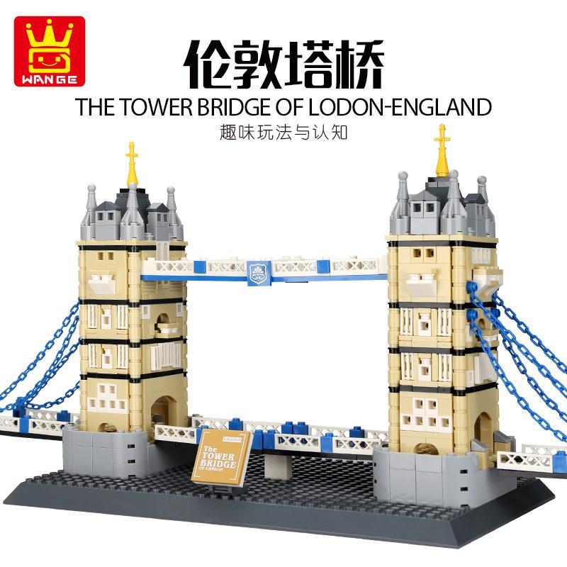 Niños Ensamblaje de juguetes Famoso Edificio Niños Puente Inteligencia Arquitectura Pequeño Juguetes Londres 969PCS Bloques Torre Gránulo 05 CJEUI