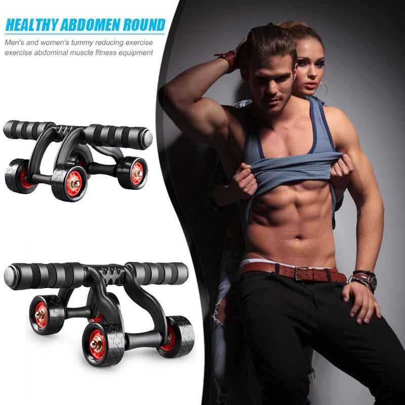 Muscle Exercise Equipment Home Fitness Quatro Rodas Abdominal roda Poder Roda com Mat Ab Rolo Gym rolo de Formação de Formadores