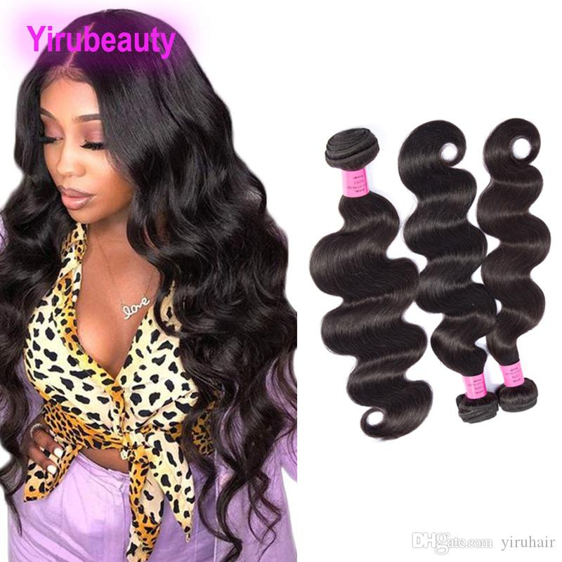 Brazilian Virgin Hair Extensions 100% Human Hair 3 Bundles Body Wave Double Wefts Natural Color Body Wave Soft Wholesale Yirubeauty