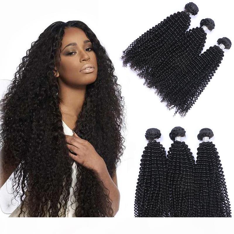 Offerte brasiliano riccio crespo dei capelli 3 pacchi a buon mercato brasiliano Afro crespo ricci estensioni dei capelli umani brasiliani ricci vergini tessono capelli