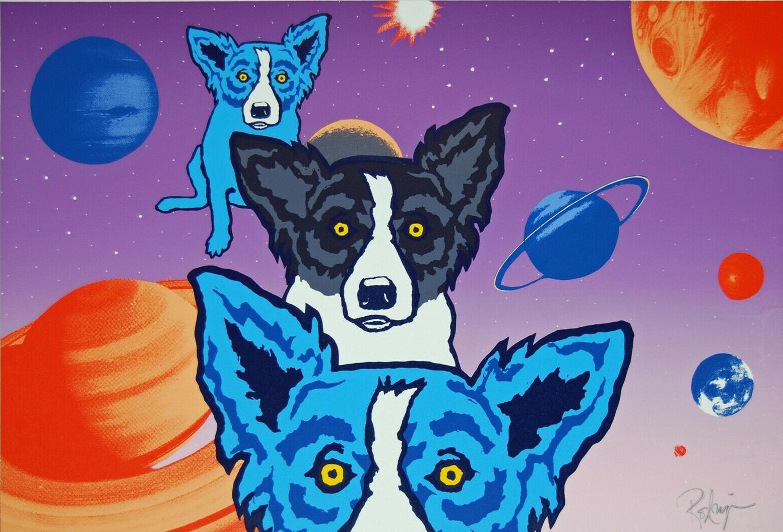 George Rodrigue Blue Dog Home Decor pintado à mão HD Pinturas Imprimir óleo sobre tela Wall Art Pictures 200115