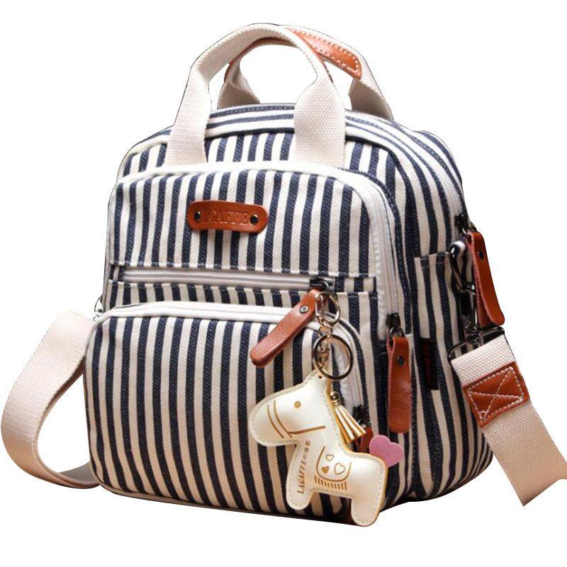 Pañal del bolso de múltiples funciones Mochila Cuidado Madre Hobos Bolsas cochecito de bebé del panal Bolsas para mamá con el caballo adornos de viaje Mochilas