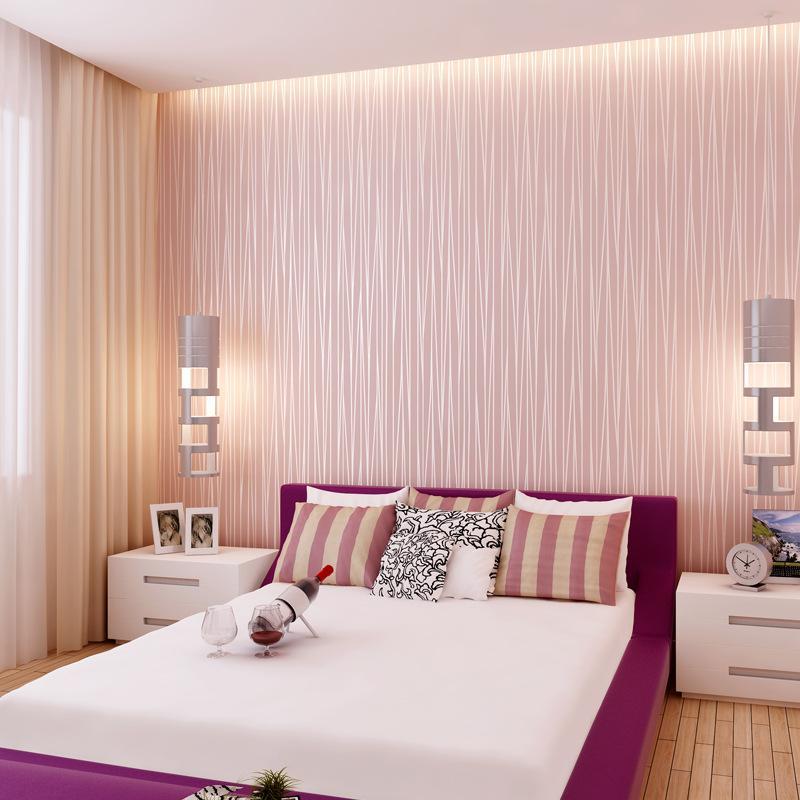 Moderne de style européen 3d auto-adhésif papier peint bande couleur pure tissu non tissé papier peint imperméable à l'eau de fond TV salon chambre