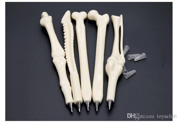 Novo Esqueleto Canetas Óssea novely Criativo caneta esferográfica osso em forma de caneta enfermeira doutor estudante Papelaria Marcadores de alta qualidade