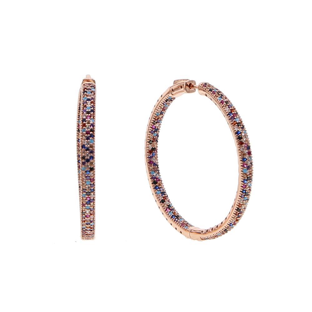 2018 Moda New Multicolorido Rodada Grandes Brincos Para As Mulheres Geométricas Simples Círculo Partido Brincos De Argola Jóias 50mm Tamanho Y19062703