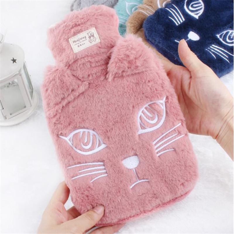 New Winter Lovely cat Hot Water Bottle With Detachable Soft Cute Animal Hand Warmer Water Filling Hot Water Bag JJ002 T191109