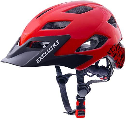 New Exclusky Fahrradhelme für Kinder Leichte justierbarer Fahrrad Fahrradhelm für Junge Mädchen 50-57cm (Ages 5-13) Radsport-Schutzausrüstung