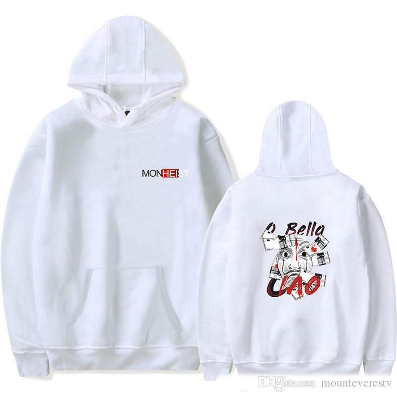 Money Heist Womens Hoodies Loose La Casa De Papel Print Ladies Hooded Sweatshirts Fashion Long Sleeve O Neck Womens Clothes