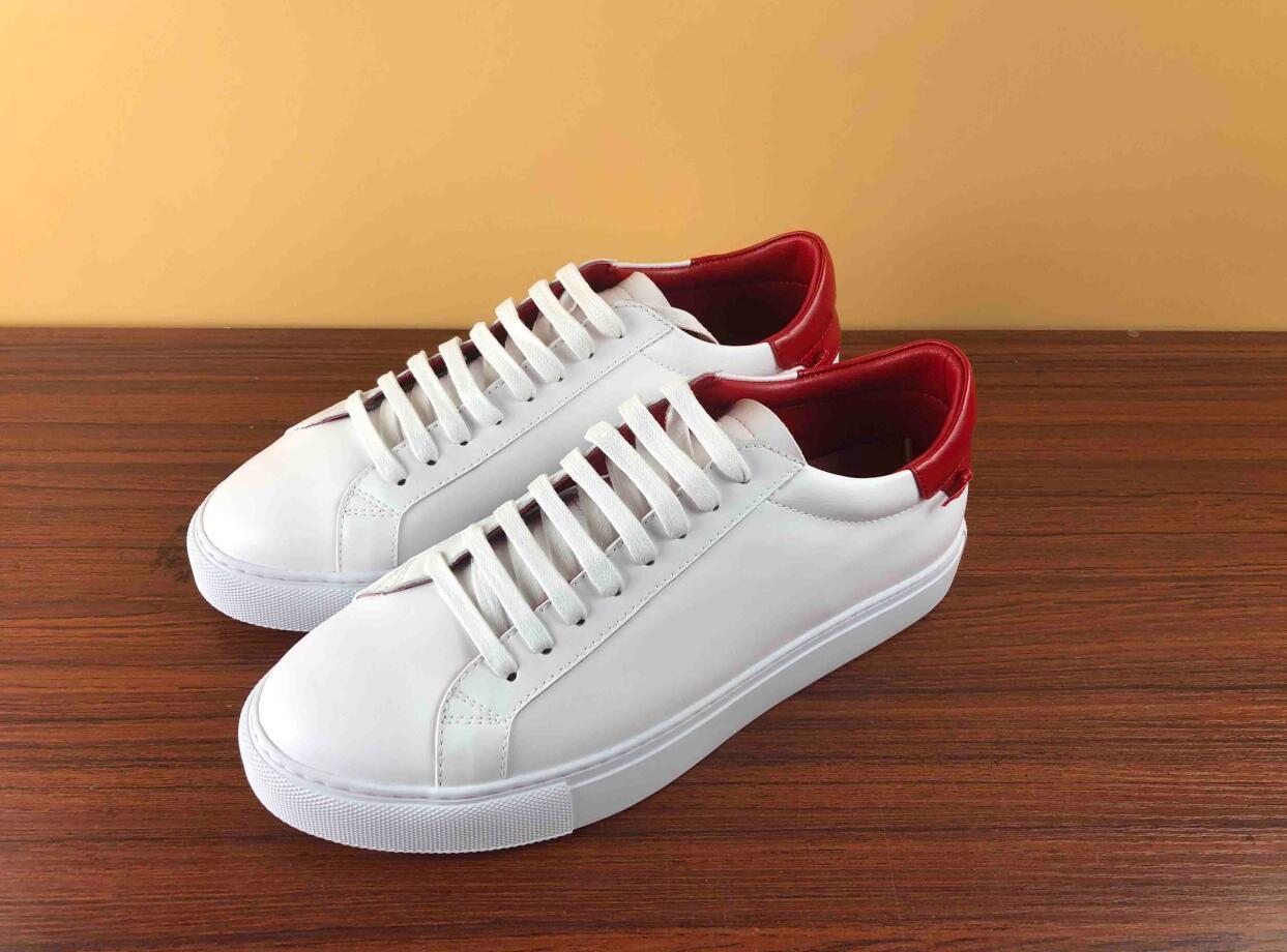 designer Schuhe mit Echtem Leder casual shoers mit Band Luxus designer sneaker für Männer Kleid Schuhe Männer Turnschuhe mit box für saleT01