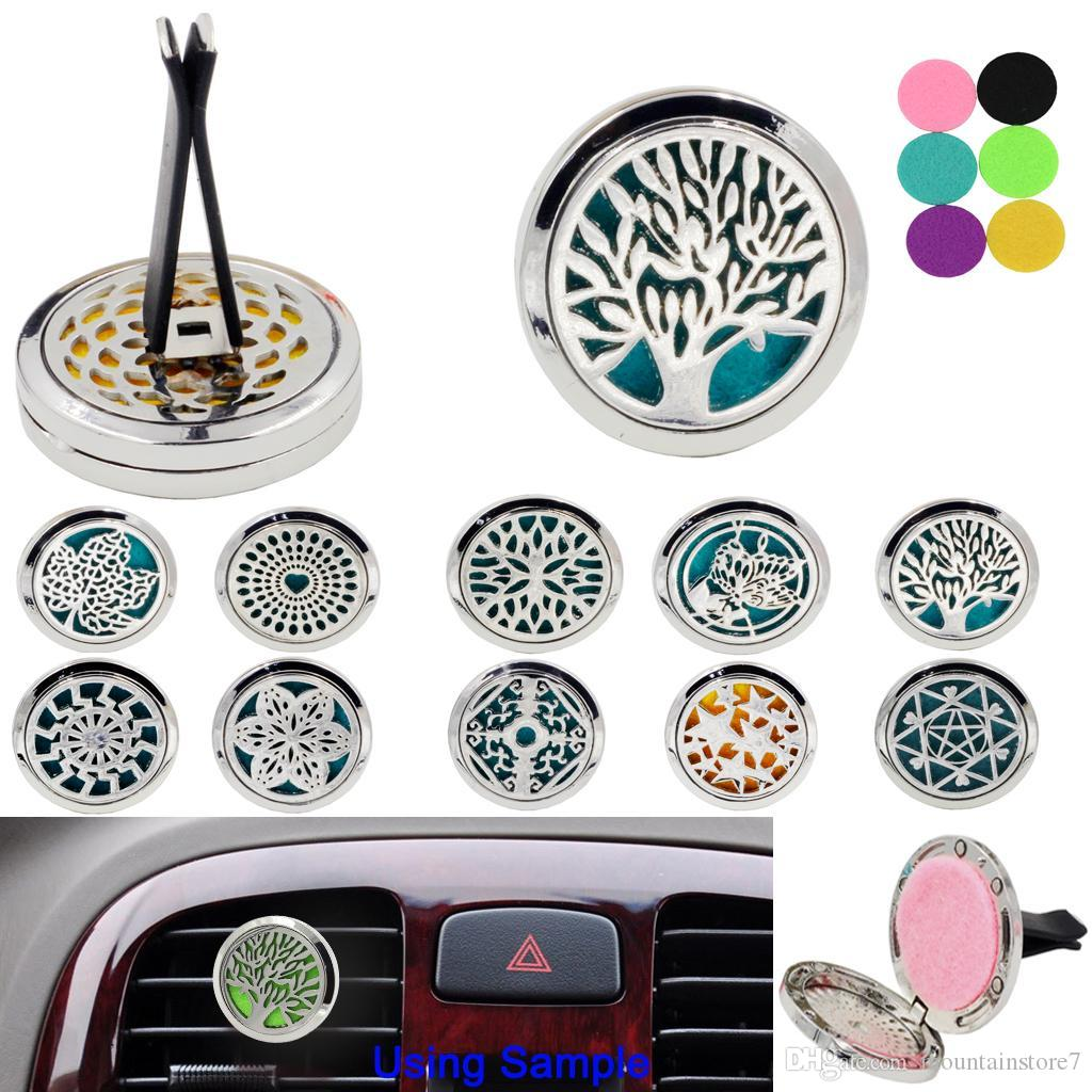 Tree of life Car perfume air freshener Auto Outlet Solid Fragrance Clip Car Air Vent Perfume Essential Oil Diffuse Car styling