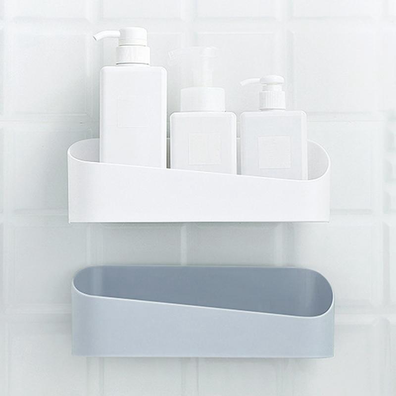 Einreihige Schlags-Free Strong Self-Adhesive Wand befestigten Typ Big Storage Box Starke Kleber Küche Badezimmer WC Regale