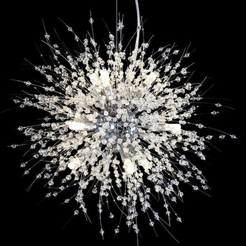 الثريا الحديثة كروم الذهبي الغرور تعليق كريستال الثريا المعلقة G9 بريق الإضاءة LED لغرفة المعيشة
