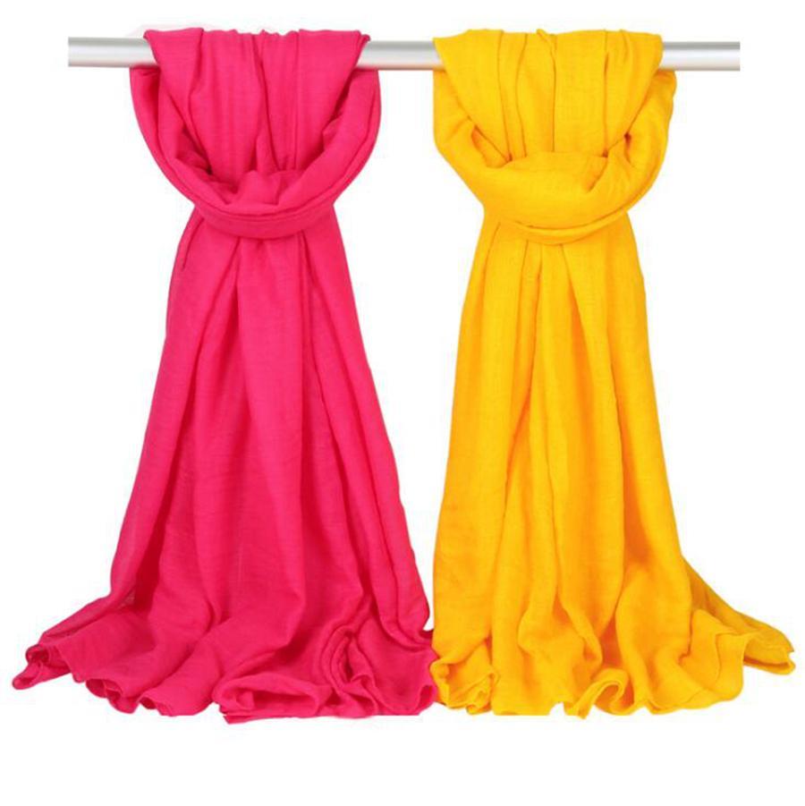 Donne Solid Sarong Sciarpe di Sarong 180 * 100 cm 36 colori Spiaggia in lino in lino in lino in cotone Sciarpa di seta Sciarpa solare Scialle solare Avvolgibile Lungo Fountescarf OOA7581