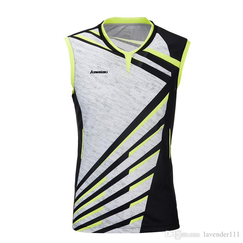 Men Clothes Sports Shirt V-Neck Sleeveless Breathable Badminton Shirt Tennis T-shirts For Male