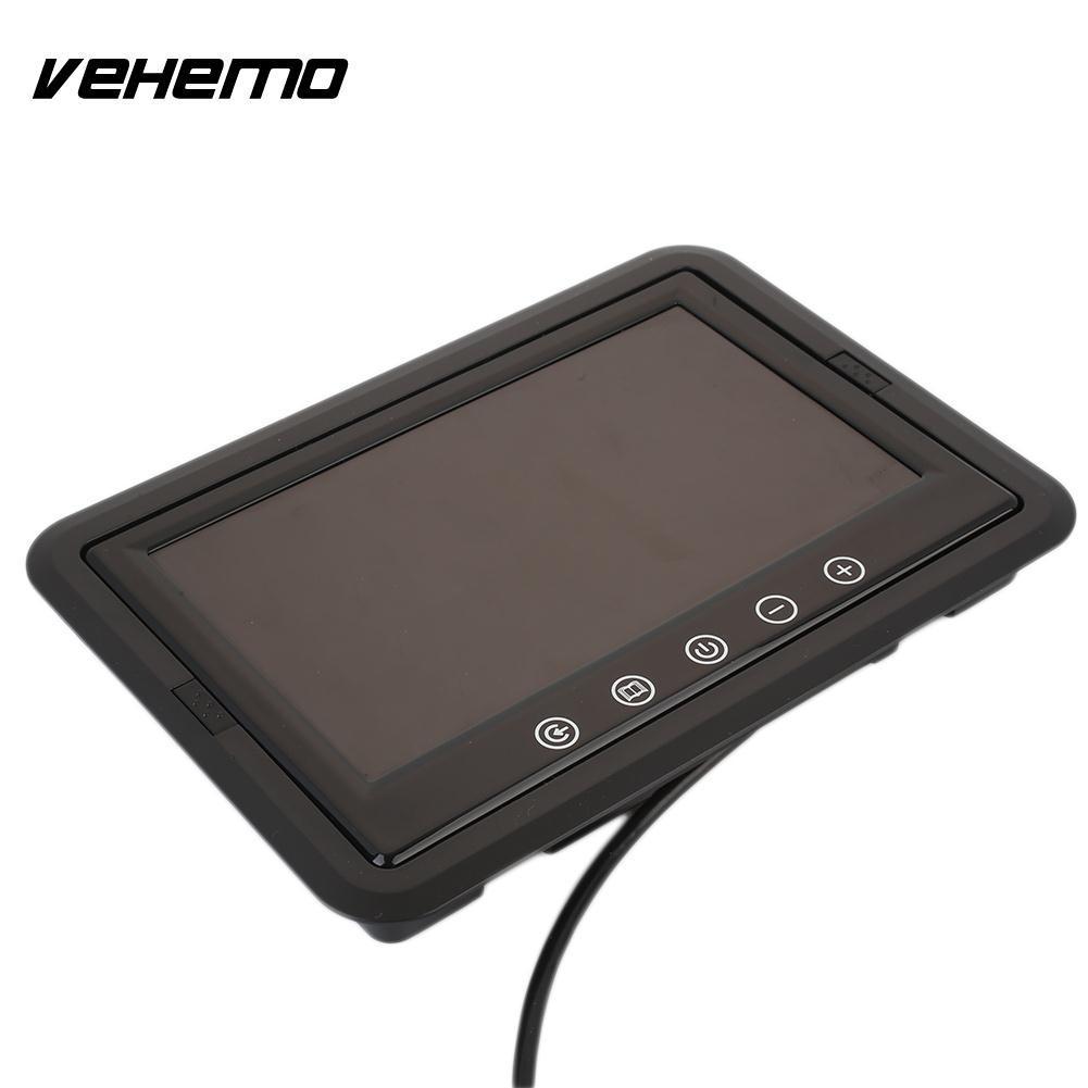 VEHEMO TFT LCD Ekran PAL / NTSC Araç Elektroniği Otomobil Dikiz Monitör Araç Monitör Yedekleme DVD Ters Assist
