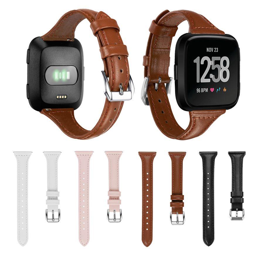Strap Pulseira para Fitbit Versa 2 / Couro Luxo Versa Lite Watch Band Correias de substituição