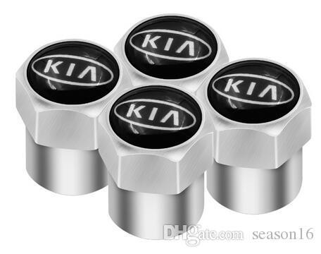 4 adet Araba-Styling Araba Tekerlek Lastik Vana Lastik Kapaklar KIA Sid Için Rio Soul Sportage Ceed Durumda Sorento Cerato K2 K3 K4 K5 Aksesuarları