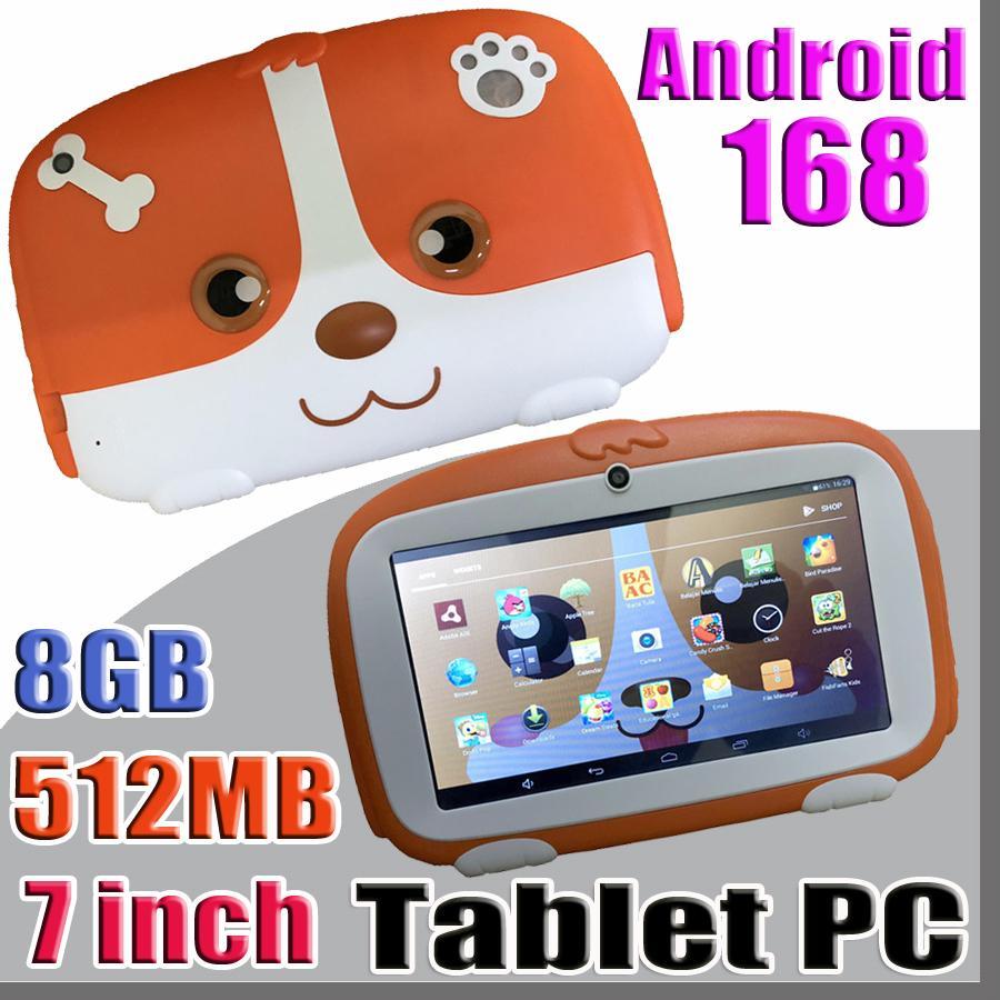 "168 DHL 키즈 브랜드 태블릿 PC 7 ""7 인치 쿼드 코어 아이 태블릿 안드로이드 4.4 Allwinner A33 구글 플레이어 512메가바이트 RAM 8 기가 바이트 ROM"