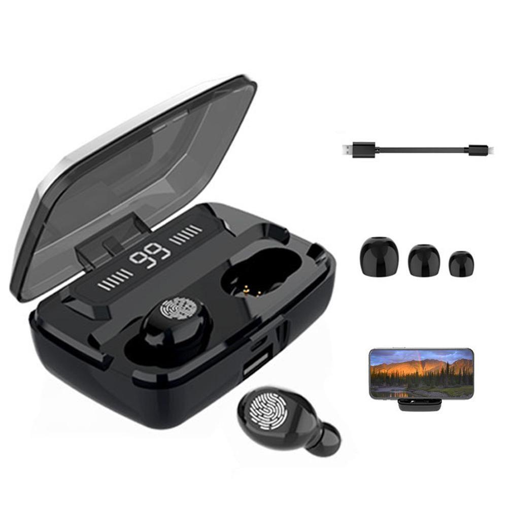 Новый мини - F9 TWS наушники Беспроводной Bluetooth v5. 0 наушники смарт-трогательные наушники со светодиодным дисплеем 3500 мАч Power Bank гарнитура с микрофоном