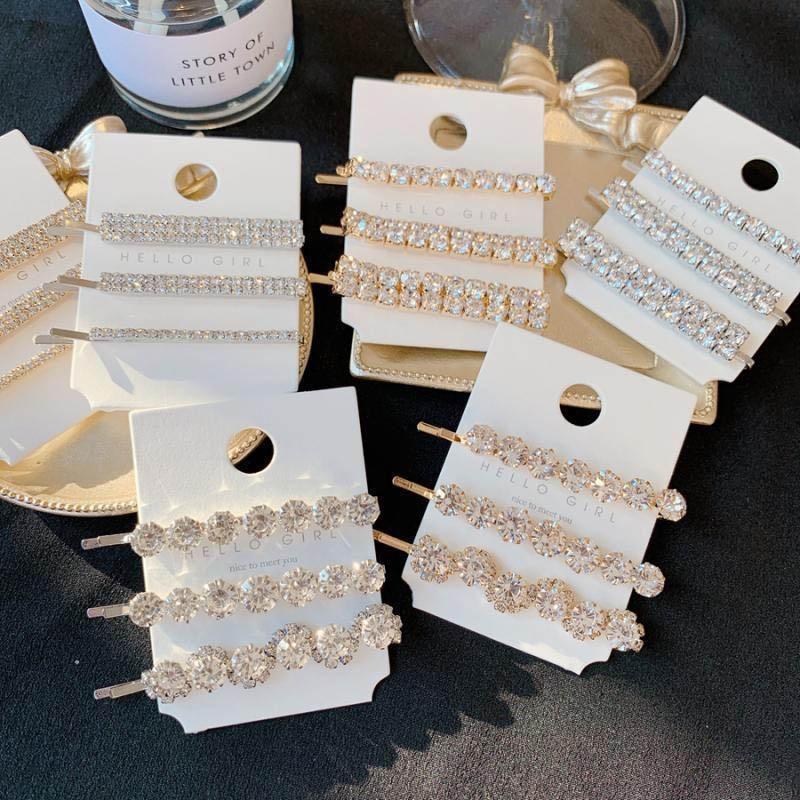 brillan diamantes de imitación de la moda niñas pinzas para el cabello accesorios para el cabello broches con encanto clips de pelo de las mujeres princesa del diseñador para las mujeres clip BB