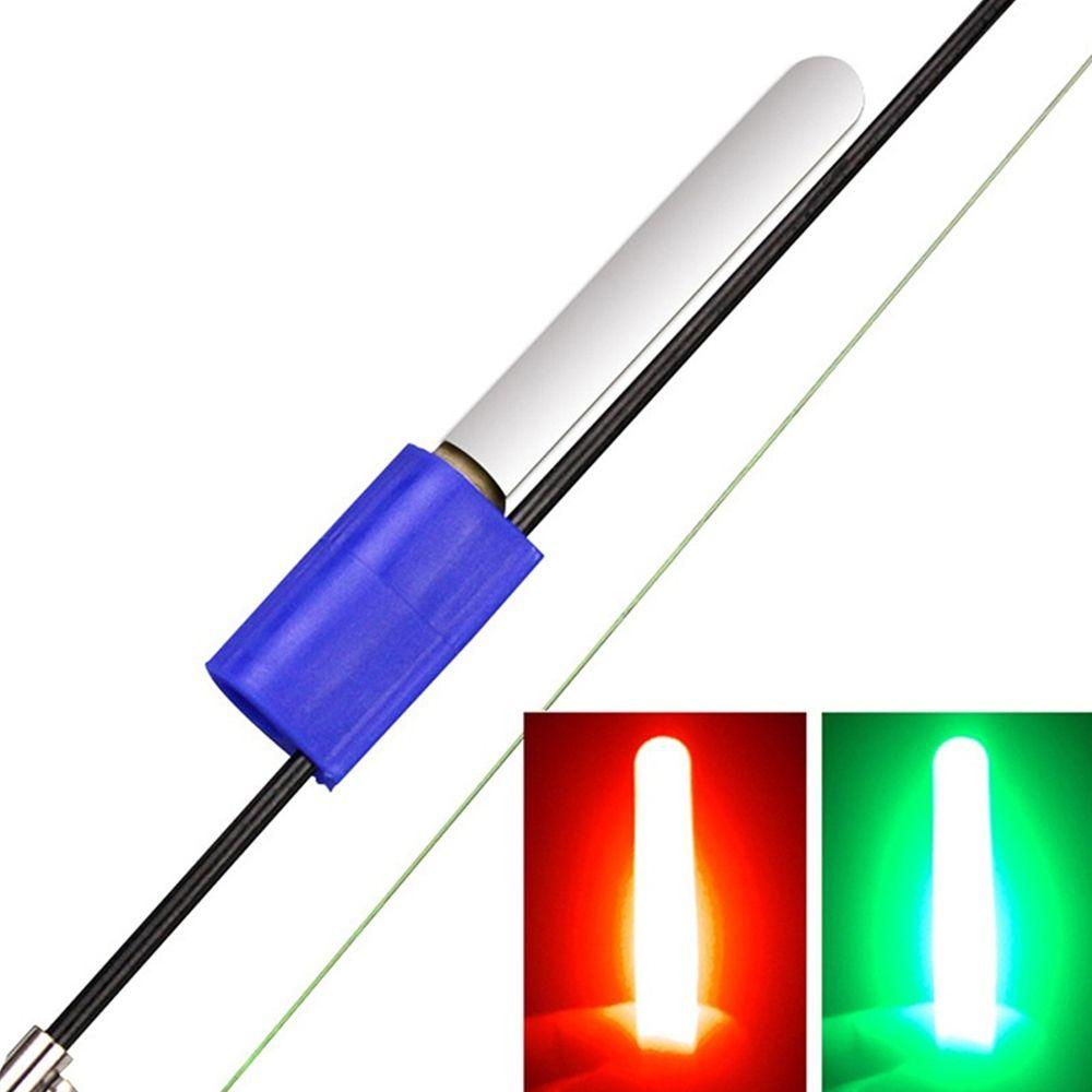 스포츠 엔터테인먼트 1PCS 방수 발광 램프 전자 물린 알람 라이트 글로우 스틱 물고기 스트라이크 밤 낚시 낚시로드 팁 클립을 LED