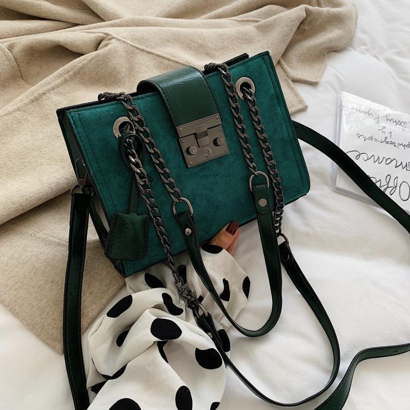 Scrub Leder Crossbody Beutel für Frauen 2020 Kleine Qualität Schulter Messenger Bag Weibliche Reisekette Handtaschen und Geldbörsen