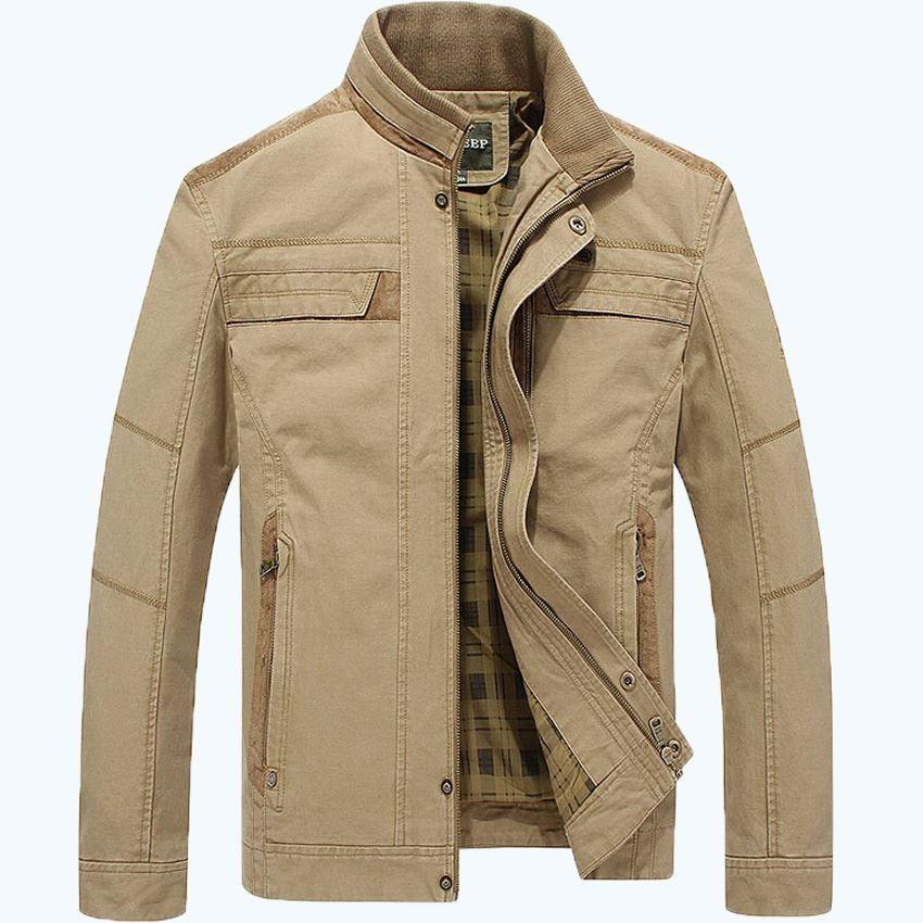 AFS JEEP cappotto giacca cachi e verde militare uomini di colori autunno più di formato M-3XL giacca uomini 128