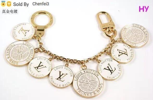 Chenfei3 TZCE Women Men Accessories Charm Key Holder Key Holders Bag Charms Home Christmas Gift Acrylic Fleur De Monogram Bag Charm Chain