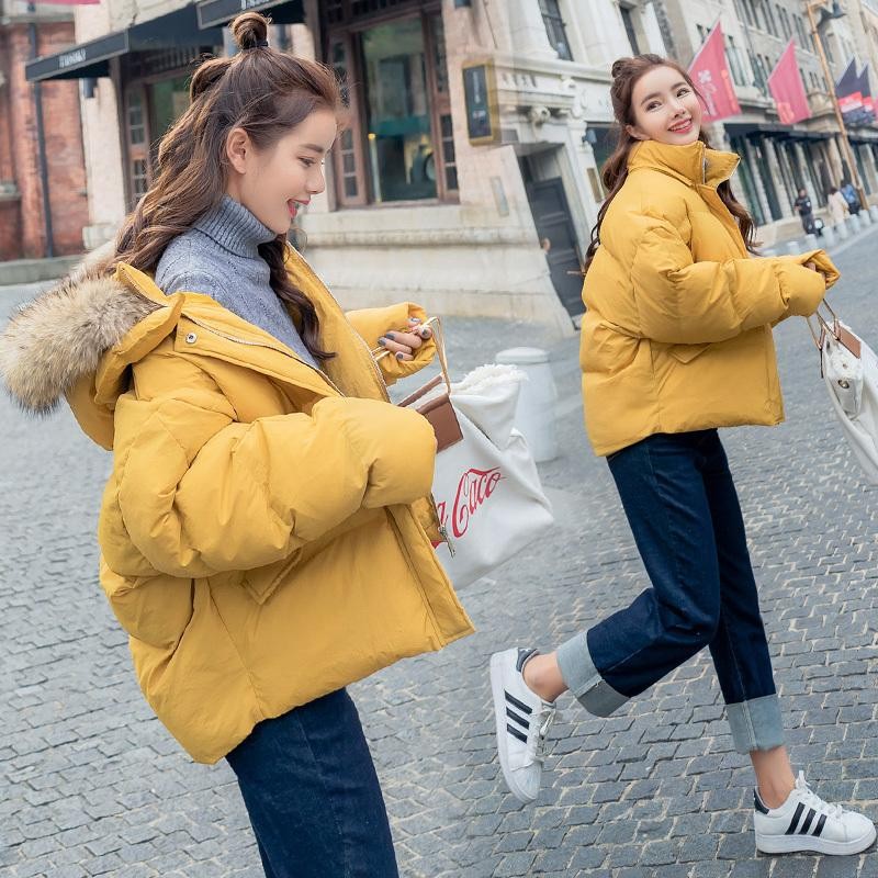 collar Women Heavy hair Winter Hooded Drop Shoulder Zipper Outerwear Female Loose Casual Fashion Comfortable Outerwear ZX1101