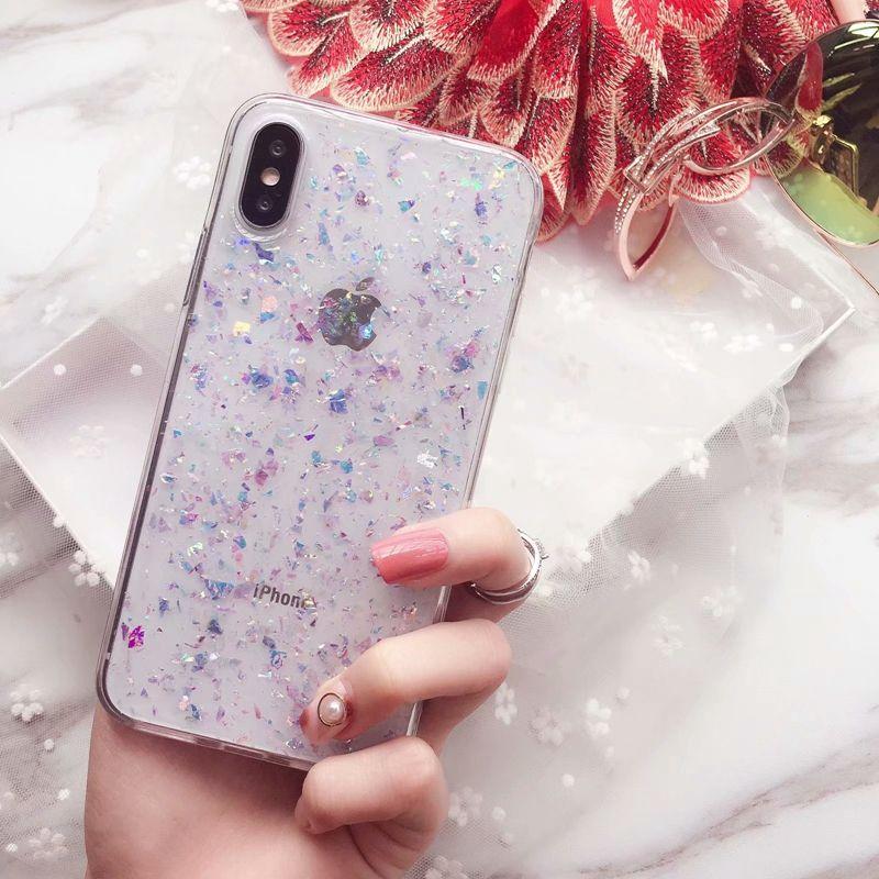 색종이 찌질 스팽글 아이폰 XS MAX X 10 8 7 6 플러스 럭셔리 크리스탈 호일 소프트 TPU 하트 러빙 포일 블링 스파클 글리터 껍질 커버