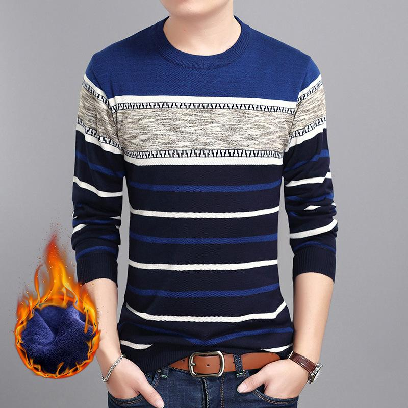 2020 suéteres para hombre otoño invierno del puente de la cachemira de punto suéter hombres suéter del O-cuello de la manga larga caliente de punto de los hombres Casual Ropa