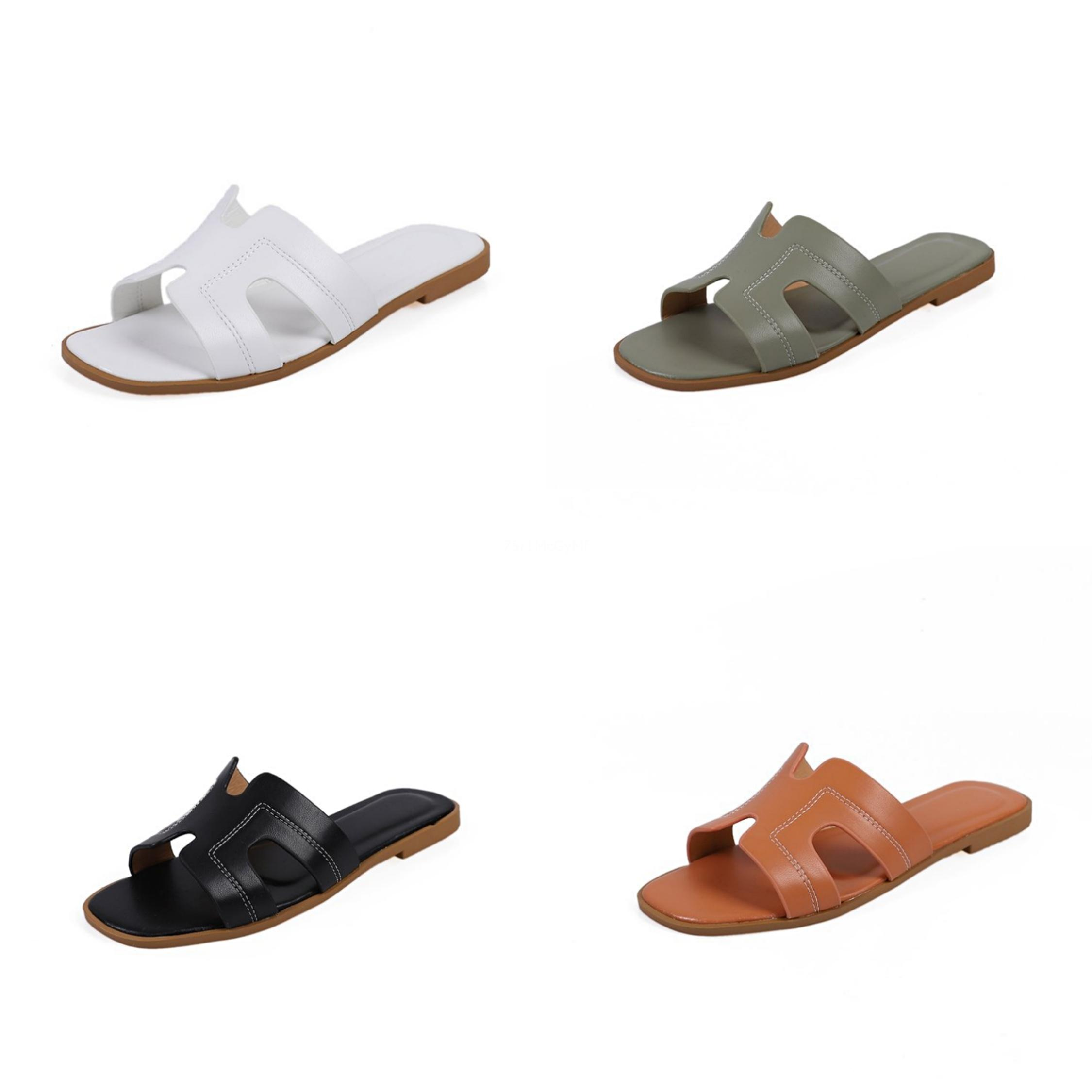 2020 Summer Slippers New Style H Beach Slippers Colorful Thin Belt Flat Bottom Fashion Slippers For Boys Girls Shoes#852