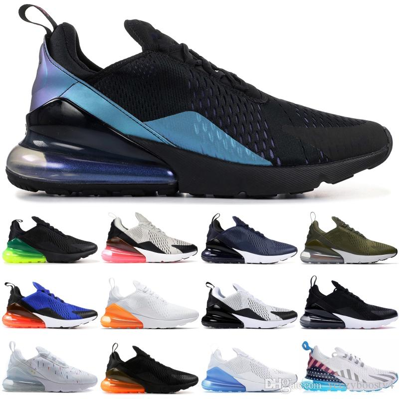 Nike Air max 270 2019 Triple Black Hommes Chaussures De Course French Champion Edition Moyenne Olive Be True Designer Baskets Parra Tiger Hommes Femmes Chaussures 5-11