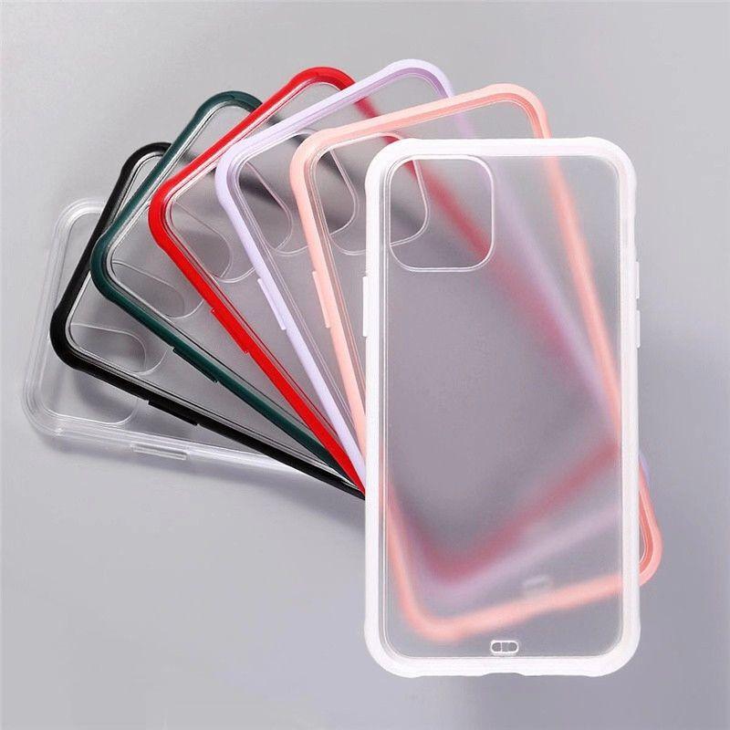 Şeffaf Yumuşak TPU Sert Şeffaf PC Telefon Kılıfı Darbeye Kapak iPhone 11 Pro Max X XS XR 8 7 6 Plus 007