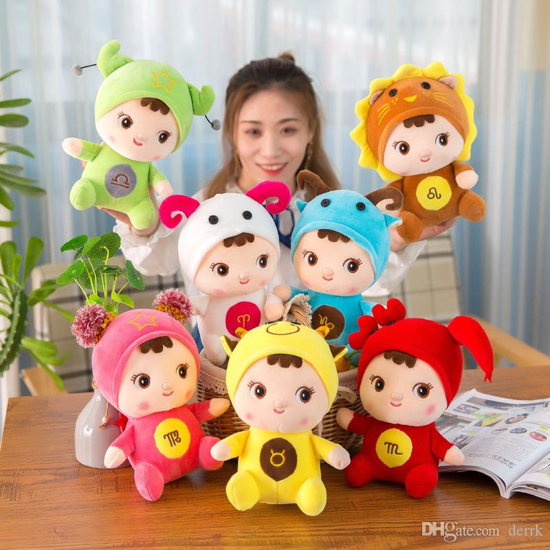 8 inch High Quality Doll 12 Star Sign Dolls Birthday Christmas Gift Stuffed Animals Toy Plush toys Gifts For Kids toys 1235