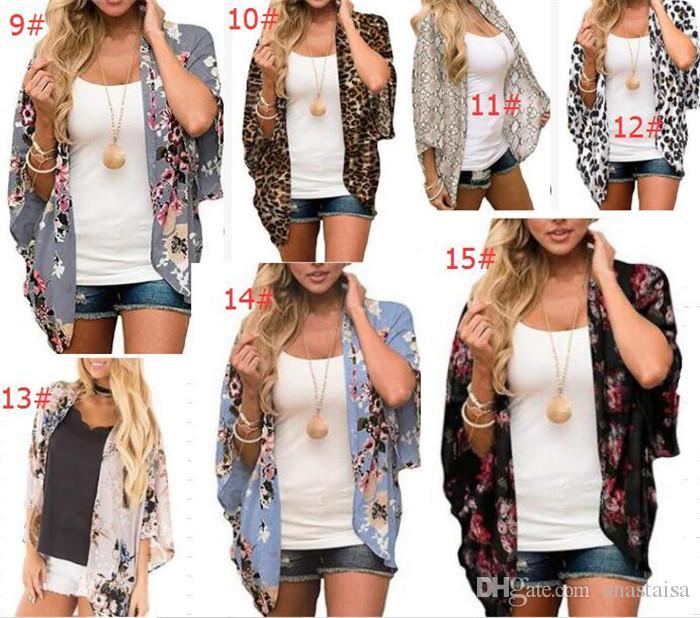 الملابس 2020 الربيع الصيف المرأة الرمال الرياح طباعة الشمس قميص كيمونو شال وقاية من الشمس بلوزة فتاة بالجملة