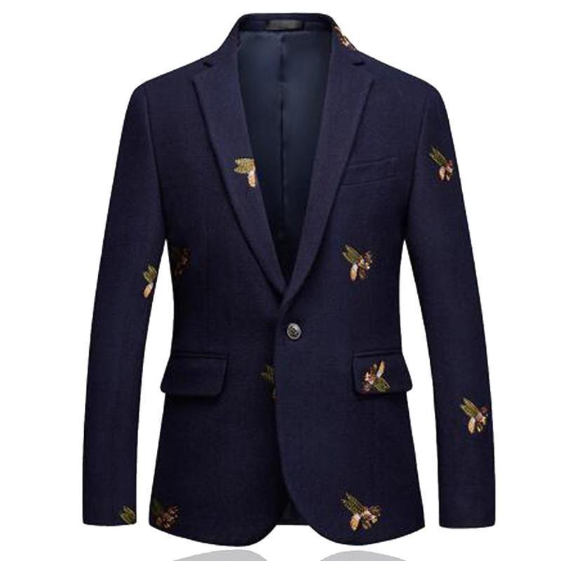 Trajes de hombre Blazers Blazers Blazer Hombres Fashion Body Body Button Single Button para la chaqueta de traje elegante masculino 6XL EM206
