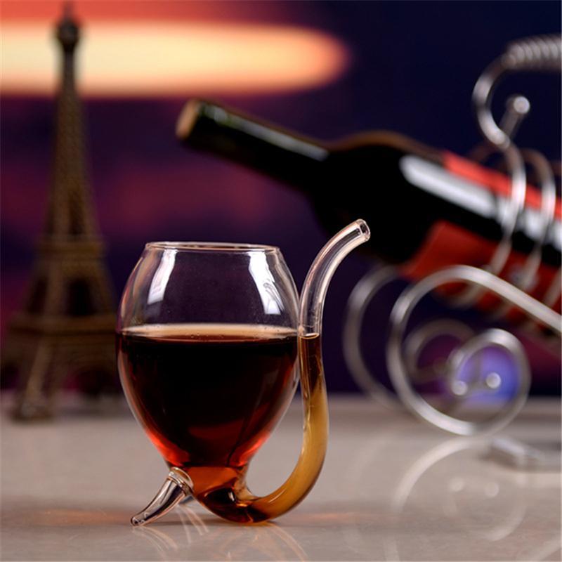 Коллекция 300мл Красное вино Кофе Молоко Кружка с Солома жаропрочных чай Напиток Кружка Transparent Drinkware Совершенная Craft Gift Promotion