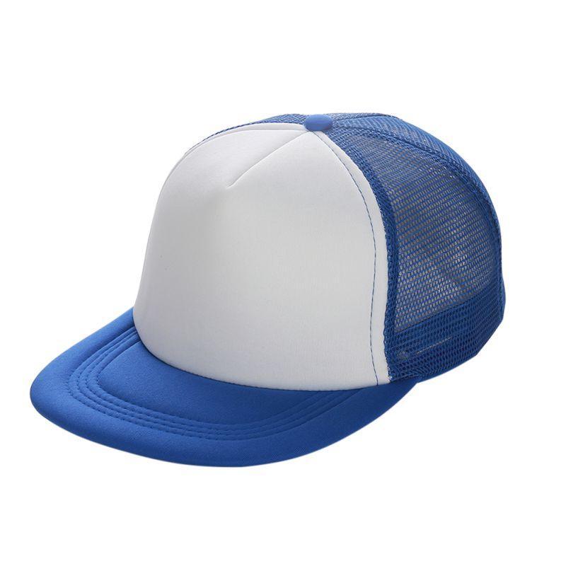 Flat Brim Blank Plain Baseball Cap Hip Hop Women Men Mesh Snapback Strapback Trucker Hat Bone Black Blue Gray Green White Red