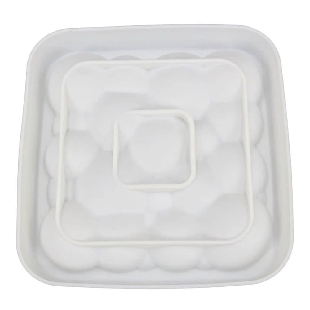 Quadrado 3d bolhas de silicone nuvem / diamante amor em forma de coração mousse pastelaria bolo diy molde do ofício ferramenta de cozimento biscuit para fondant