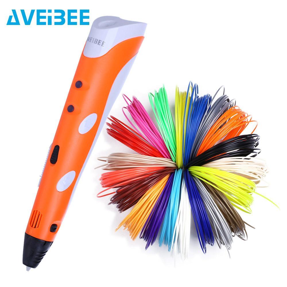 3D Penna Modello 3 D Stampante Disegno Magico stampa penne con 100 accessori per la casa / 200M plastica ABS Filament scuola per bambini regali di compleanno Y200428