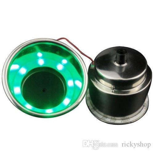 Ting Ao 2PCS Inoxydable Stee lFor Vert 8 LED Coupe Porte-Boissons Marine Bateau Voiture Camion RV Puits