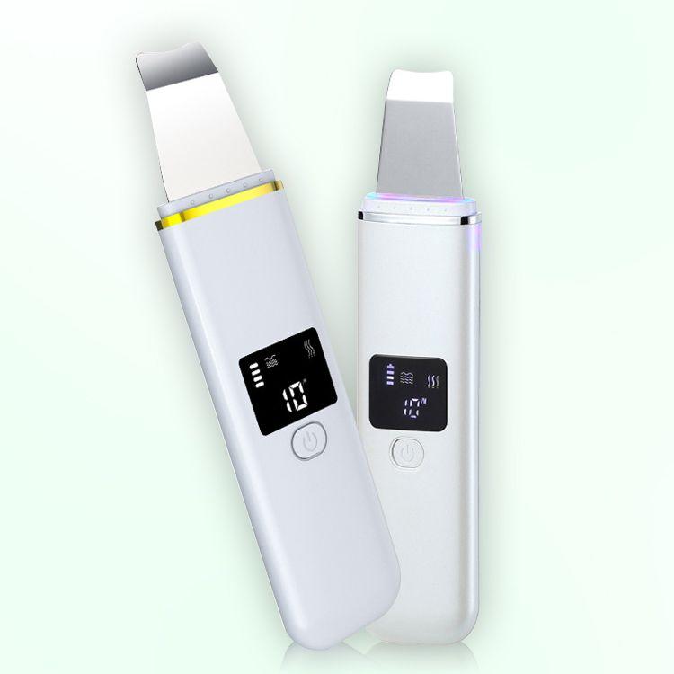 Vente CHAUDE USB rechargeable à ultrasons visage peau Scrubber Cleaner visage Peeling Vibration Blackhead Outils de suppression Nettoyant Exfoliant Pore
