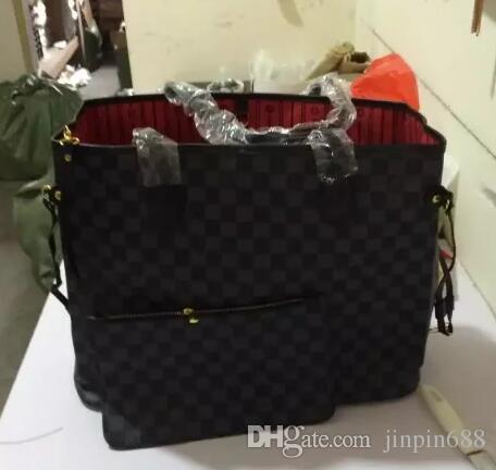 Louis Vuitton Bolsas de grife 2019 Estilo Clássico Mais Vendidos Naverfull Cow High Leather Top Quality Luxury Handbag Handle Shoulder Bag