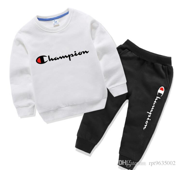 Весна осень Детские футболки брюки костюмы малыш спортивные костюмы дети мальчики девочки стиль одежды наборы Детская одежда 1 2 3 4 5 лет