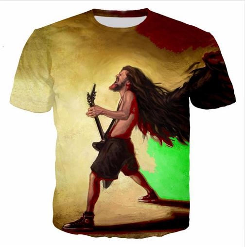 Casual Uomo Womans Bob Marley 3D HD Stampa T-shirt Estate a maniche corte T-shirt O-Collo Stile di modo Unisex Shirt Marca Tees DX038